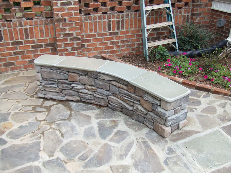flagstone-bench